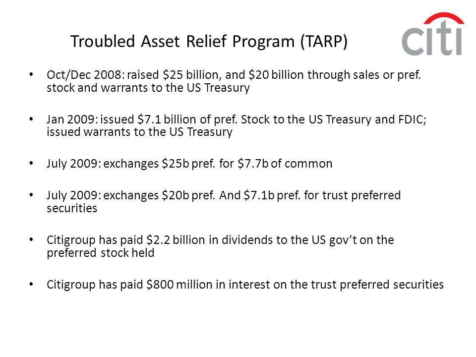 Troubled Asset Relief Program (TARP)