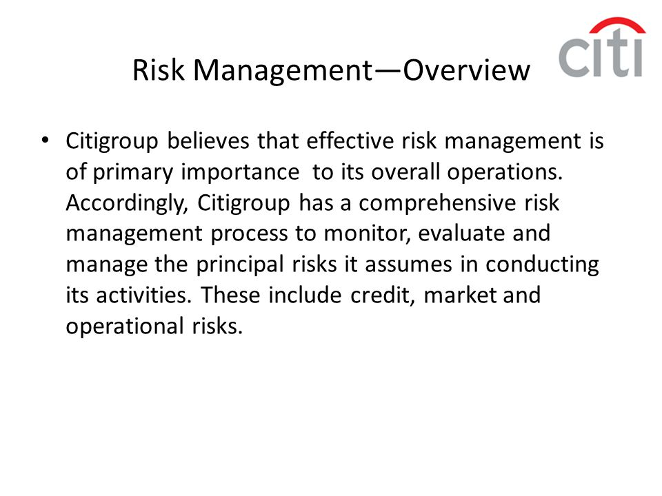 Risk Management—Overview