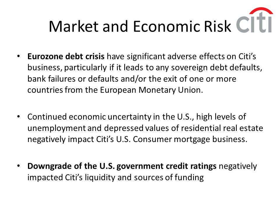 Market and Economic Risk