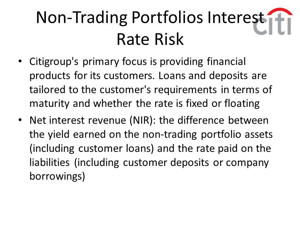 Non-Trading Portfolios Interest Rate Risk