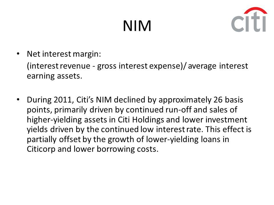 NIM Net interest margin: