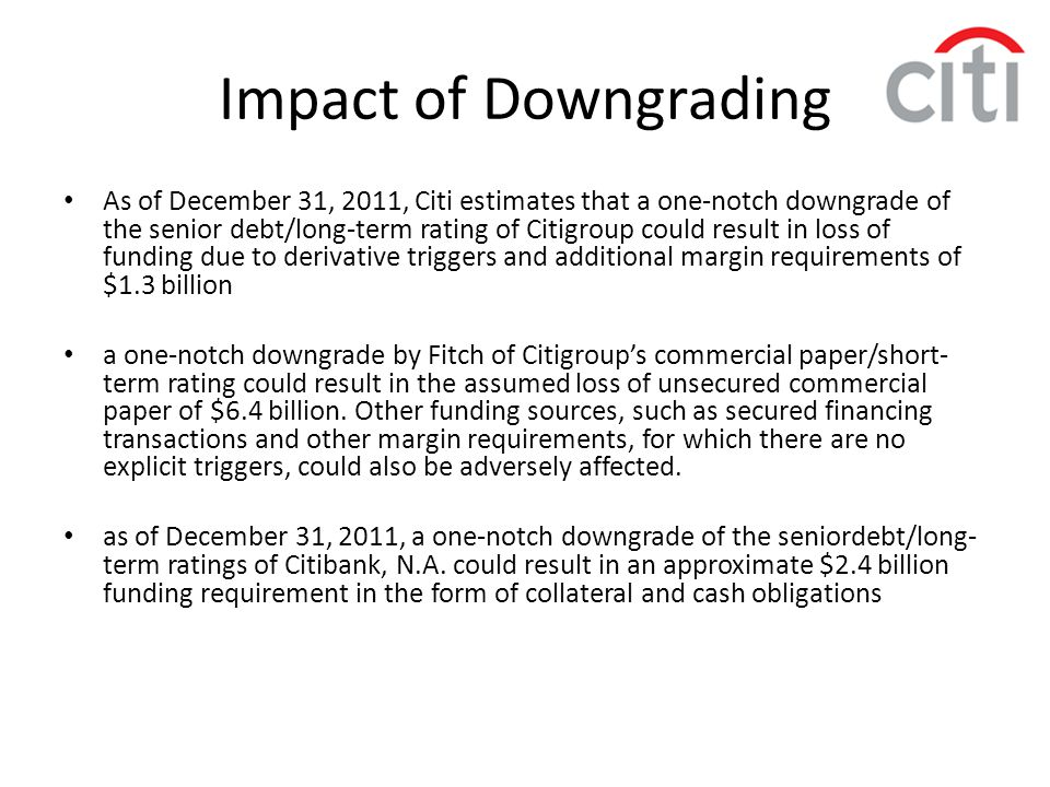 Impact of Downgrading