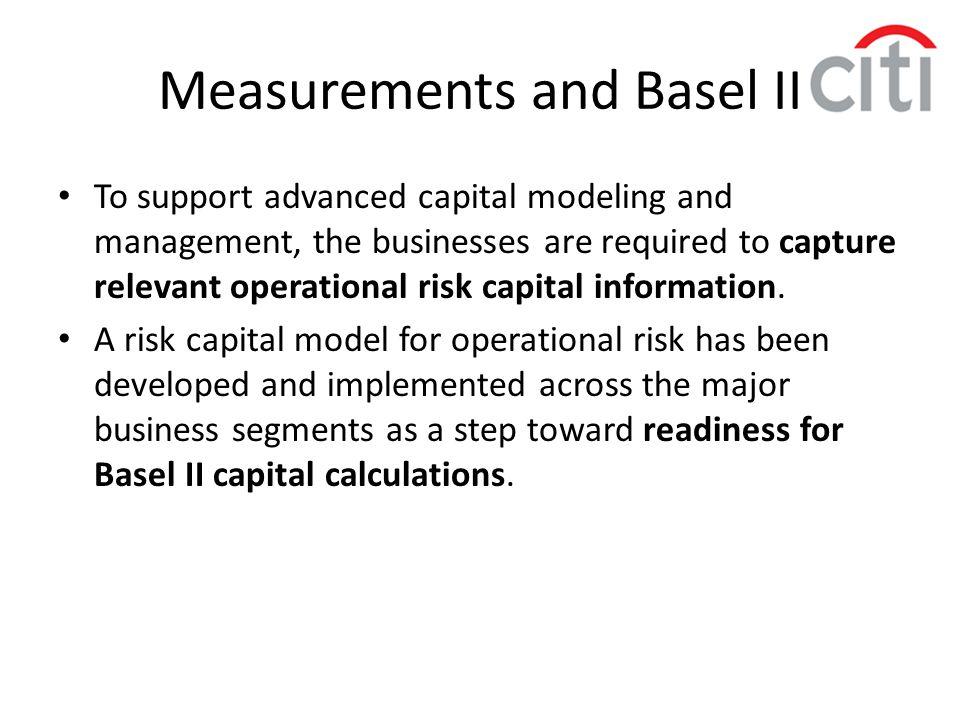 Measurements and Basel II