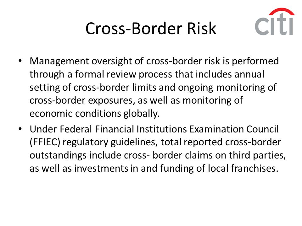 Cross-Border Risk