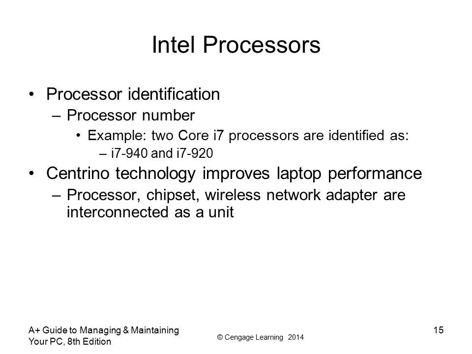 Intel Processors Processor identification