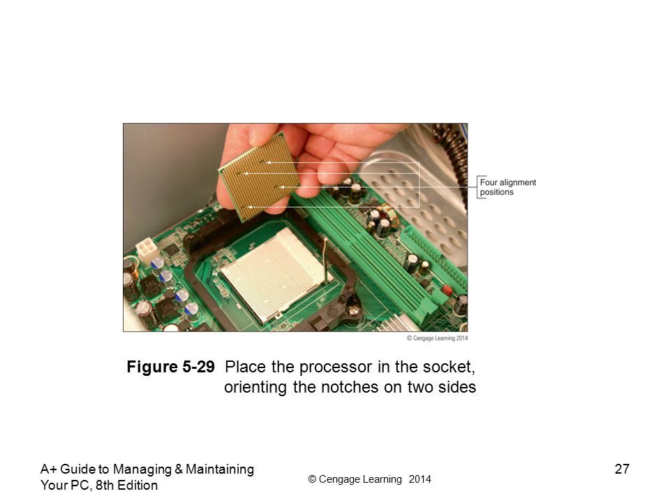 Figure 5-29 Place the processor in the socket,