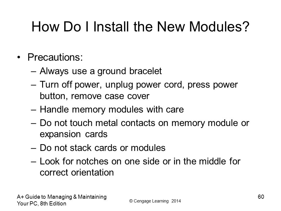 How Do I Install the New Modules