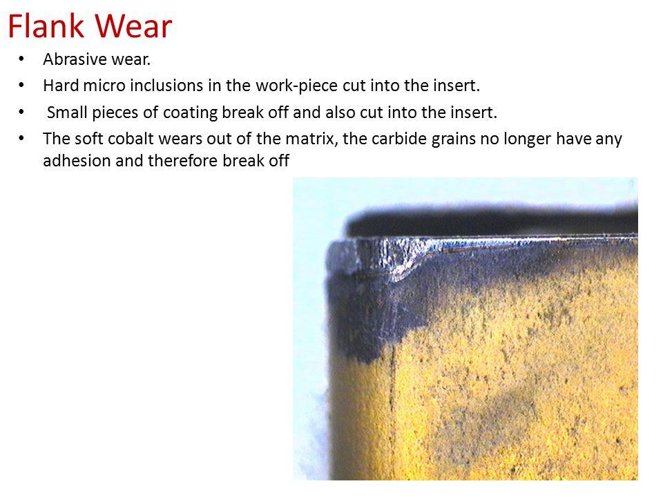 Flank Wear Abrasive wear.