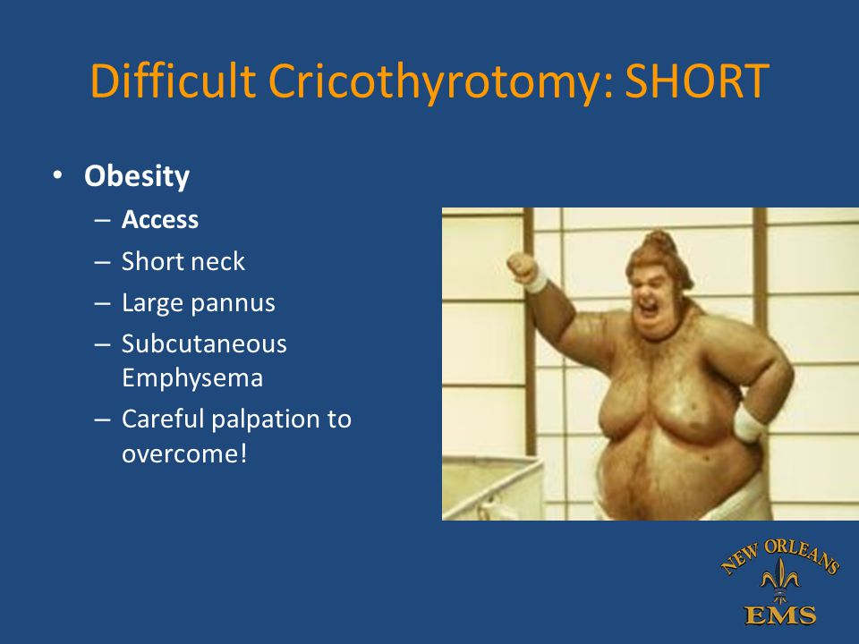 Difficult Cricothyrotomy: SHORT