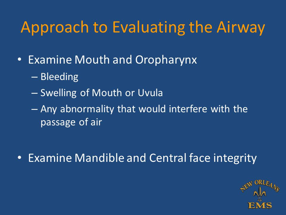 Approach to Evaluating the Airway