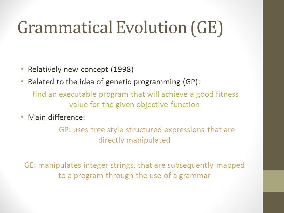Grammatical Evolution (GE)