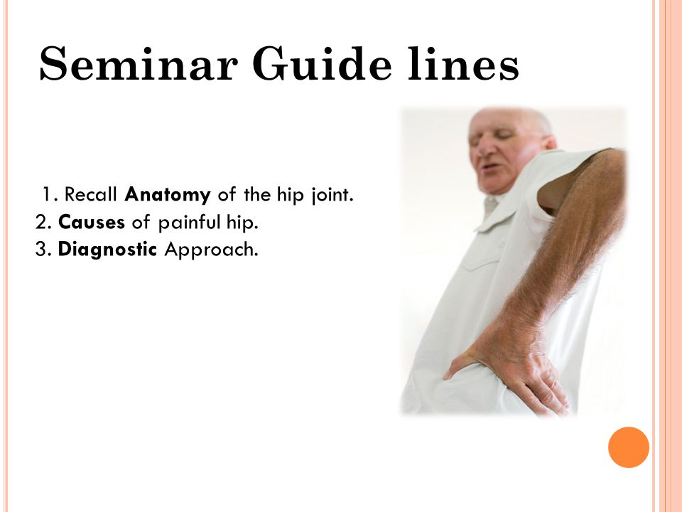 Seminar Guide lines 1. Recall Anatomy of the hip joint.