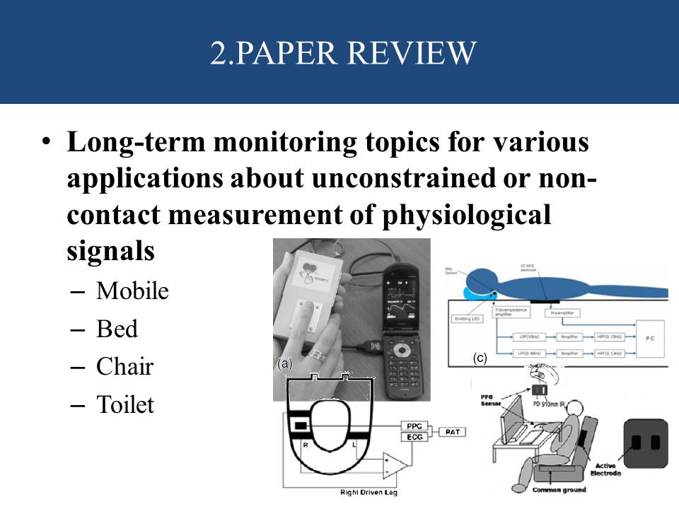 2.PAPER REVIEW Long-term monitoring topics for various applications about unconstrained or non-contact measurement of physiological signals.