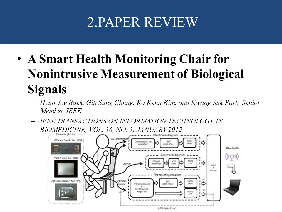 2.PAPER REVIEW A Smart Health Monitoring Chair for Nonintrusive Measurement of Biological Signals.
