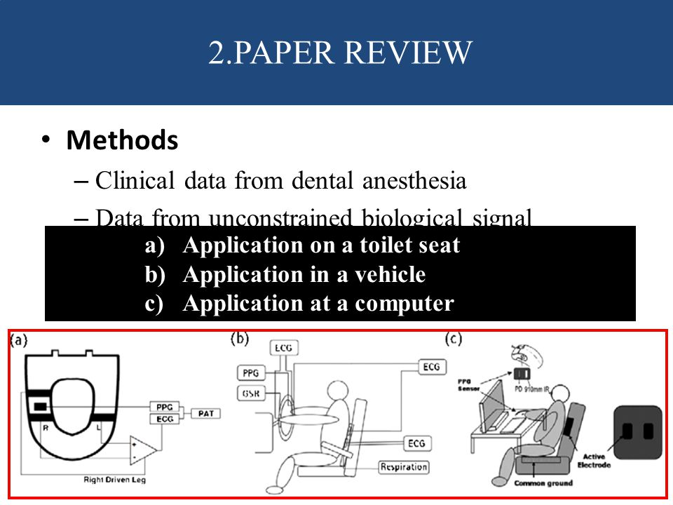 2.PAPER REVIEW Methods Clinical data from dental anesthesia