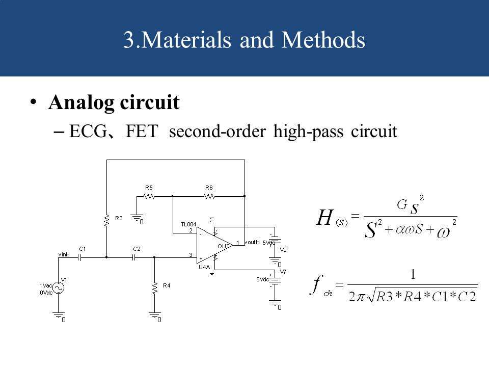 3.Materials and Methods Analog circuit