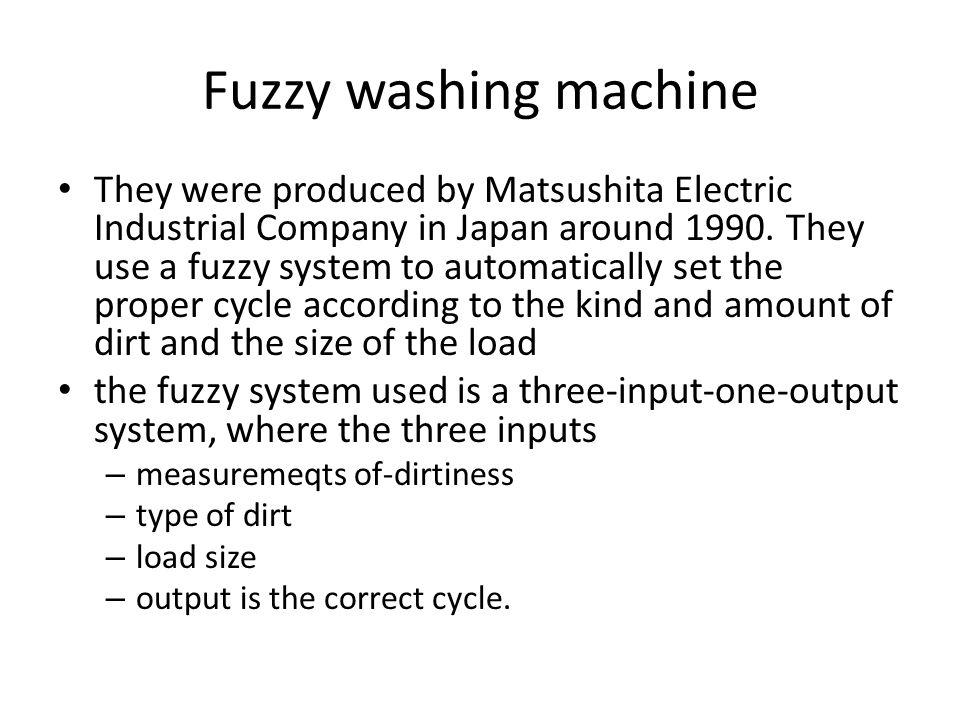 Fuzzy washing machine
