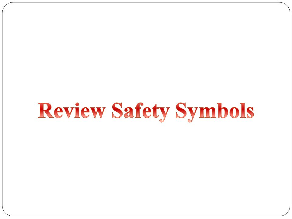 Review Safety Symbols