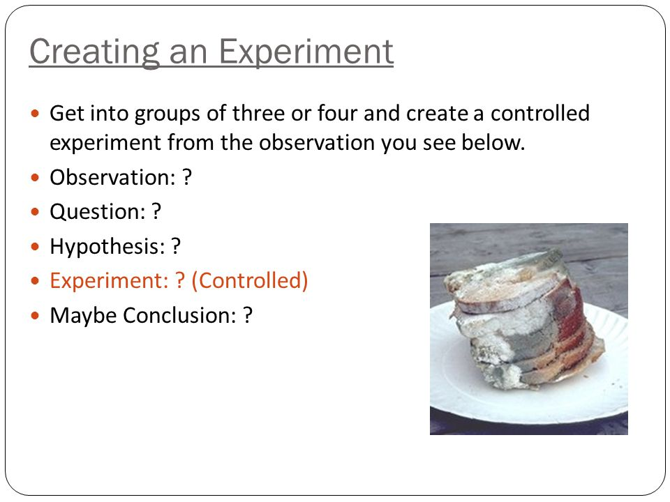 Creating an Experiment