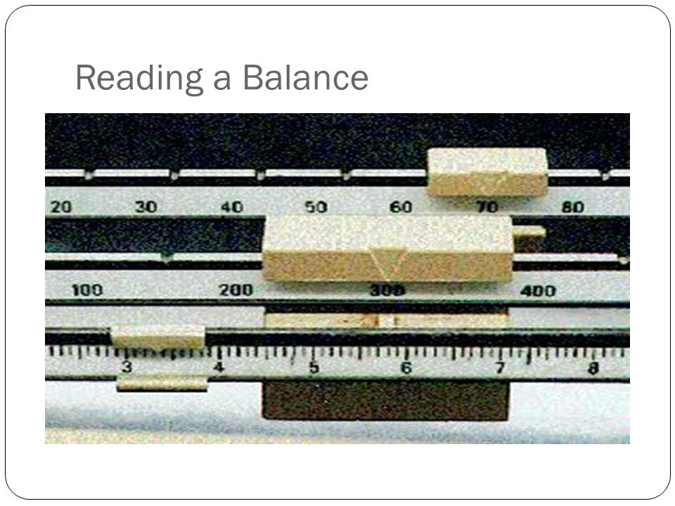 Reading a Balance
