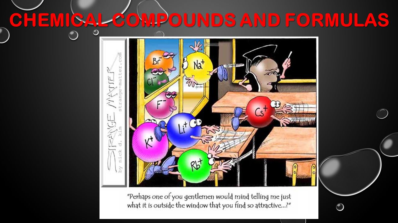 CHEMICAL COMPOUNDS AND FORMULAS