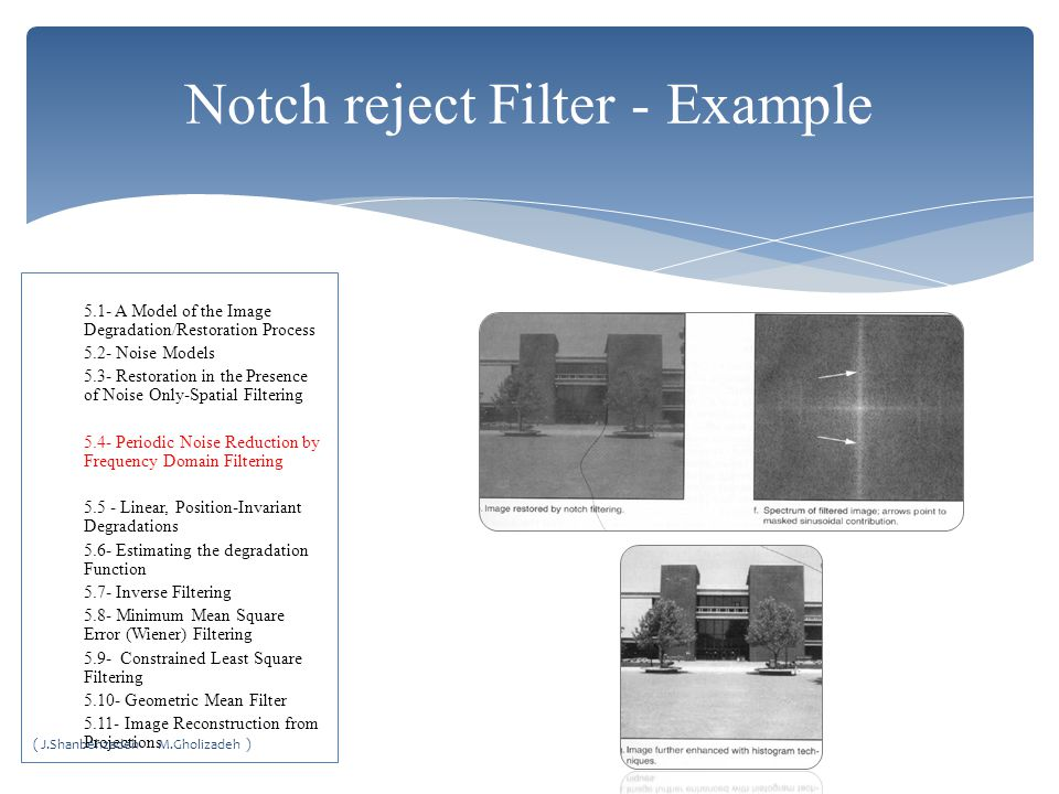 Notch reject Filter - Example