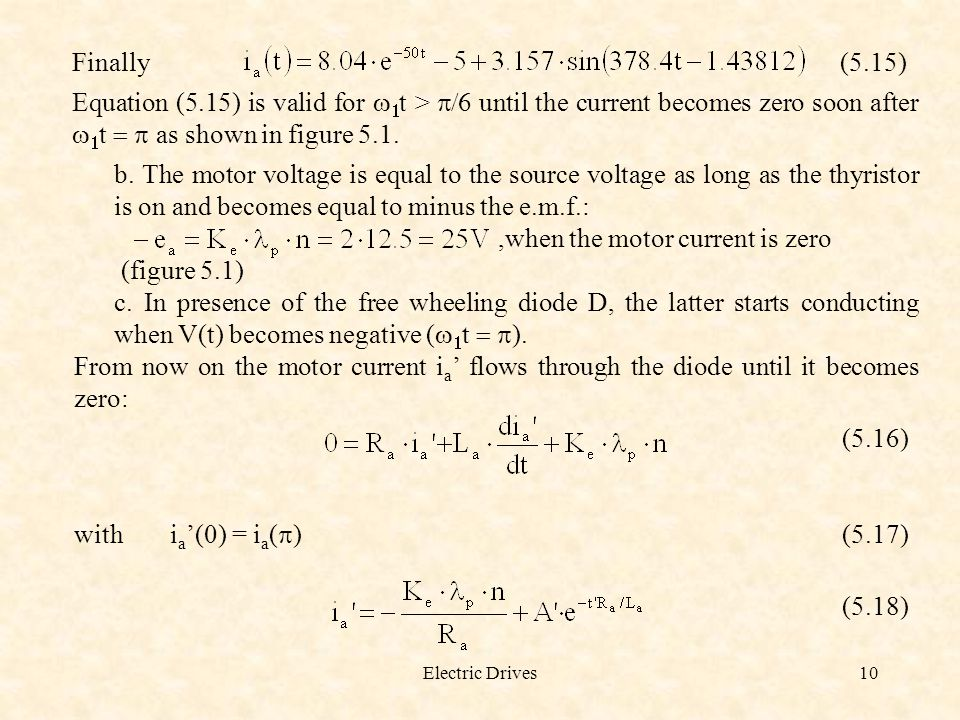 ,when the motor current is zero (figure 5.1)