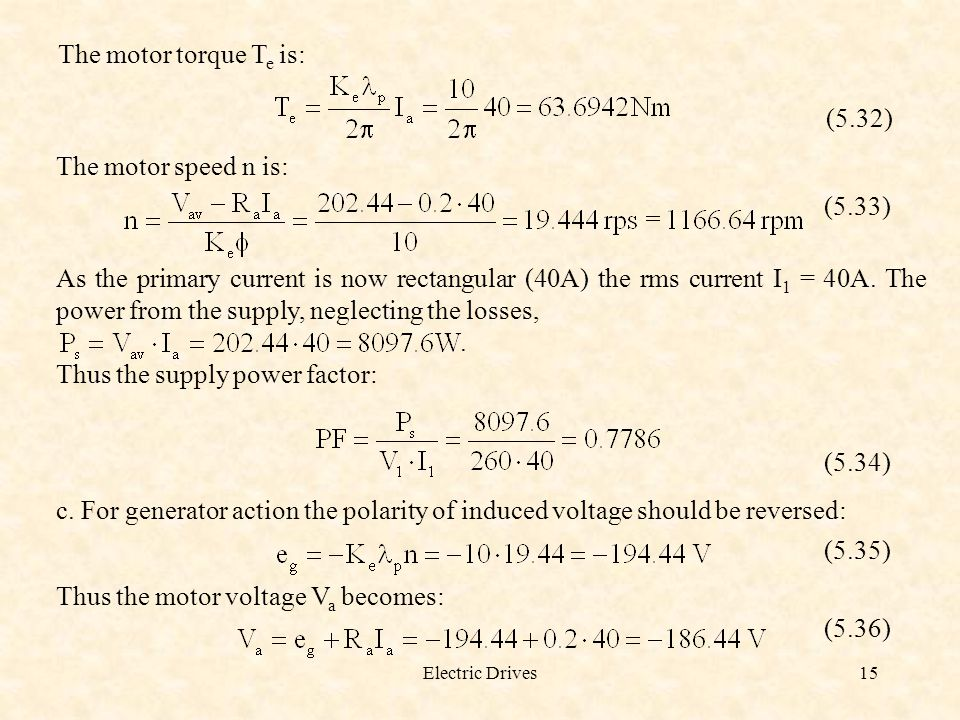 Thus the supply power factor: