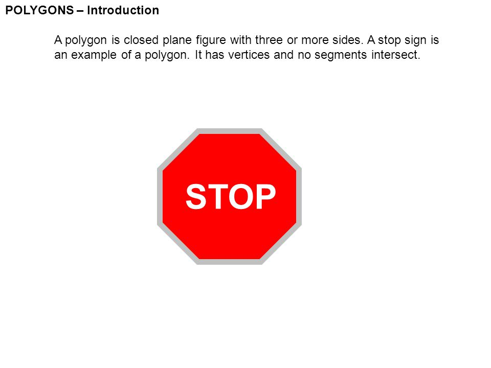 STOP POLYGONS – Introduction