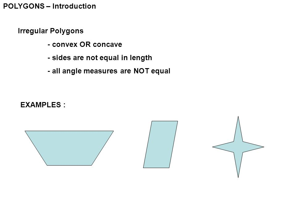 POLYGONS – Introduction