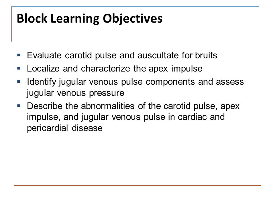 Block Learning Objectives