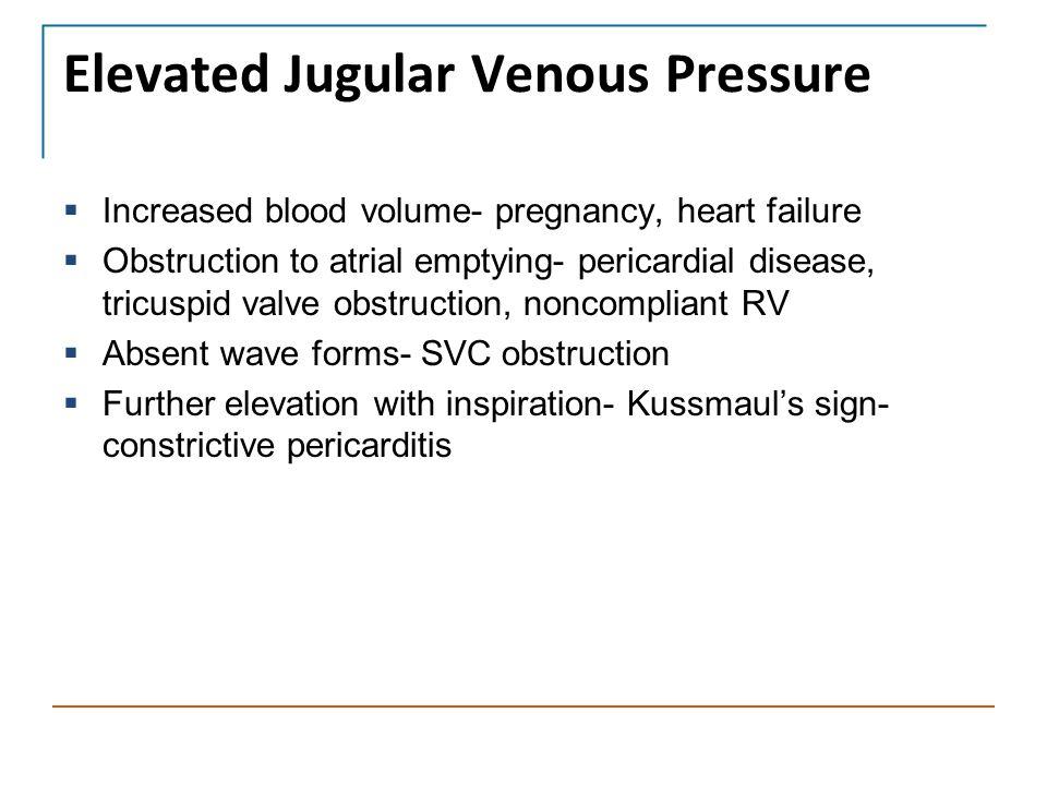 Elevated Jugular Venous Pressure