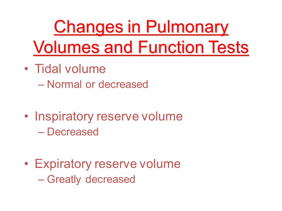 Changes in Pulmonary Volumes and Function Tests