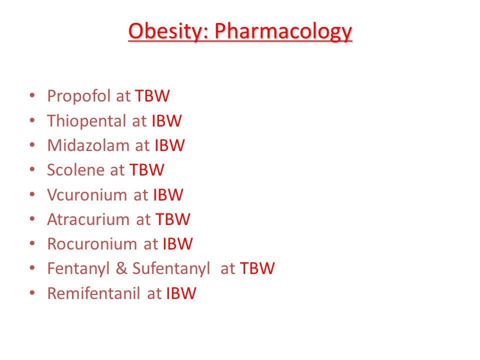 Obesity: Pharmacology
