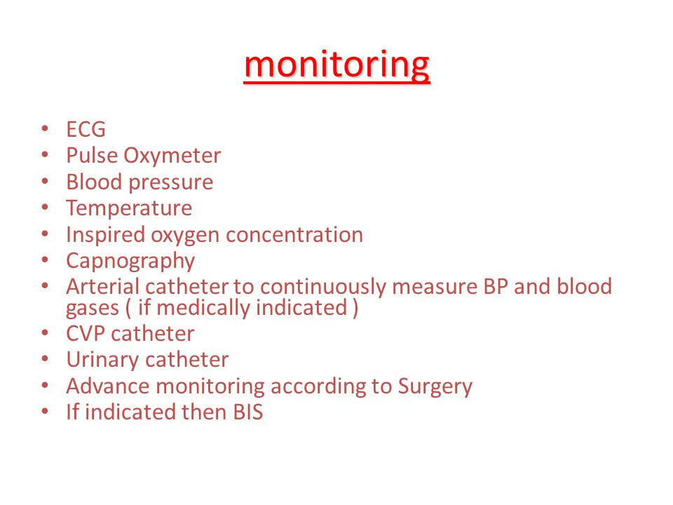 monitoring ECG Pulse Oxymeter Blood pressure Temperature