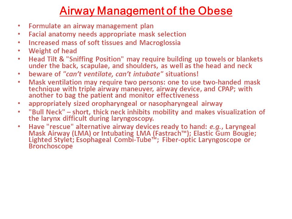 Airway Management of the Obese