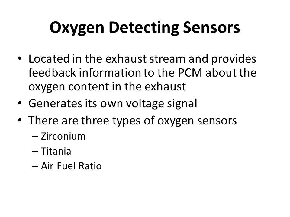 Oxygen Detecting Sensors