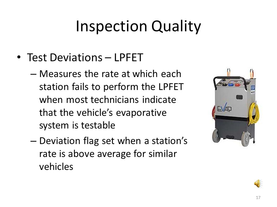 Inspection Quality Test Deviations – LPFET