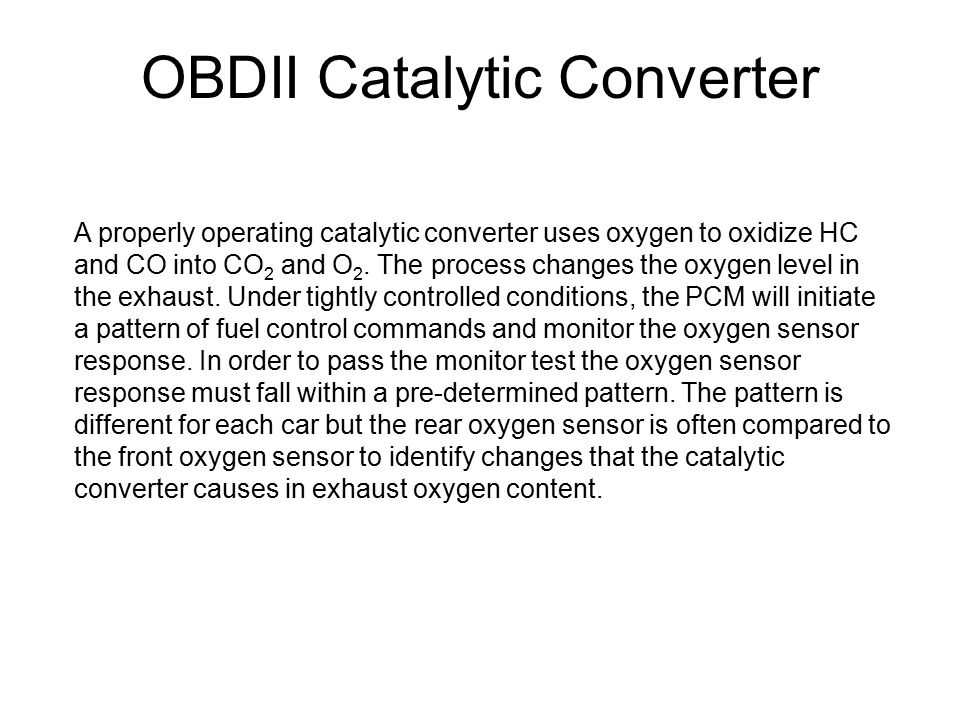 OBDII Catalytic Converter