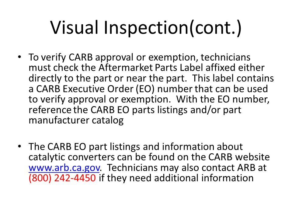 Visual Inspection(cont.)