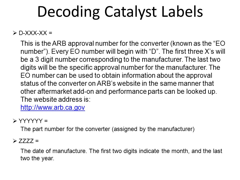 Decoding Catalyst Labels