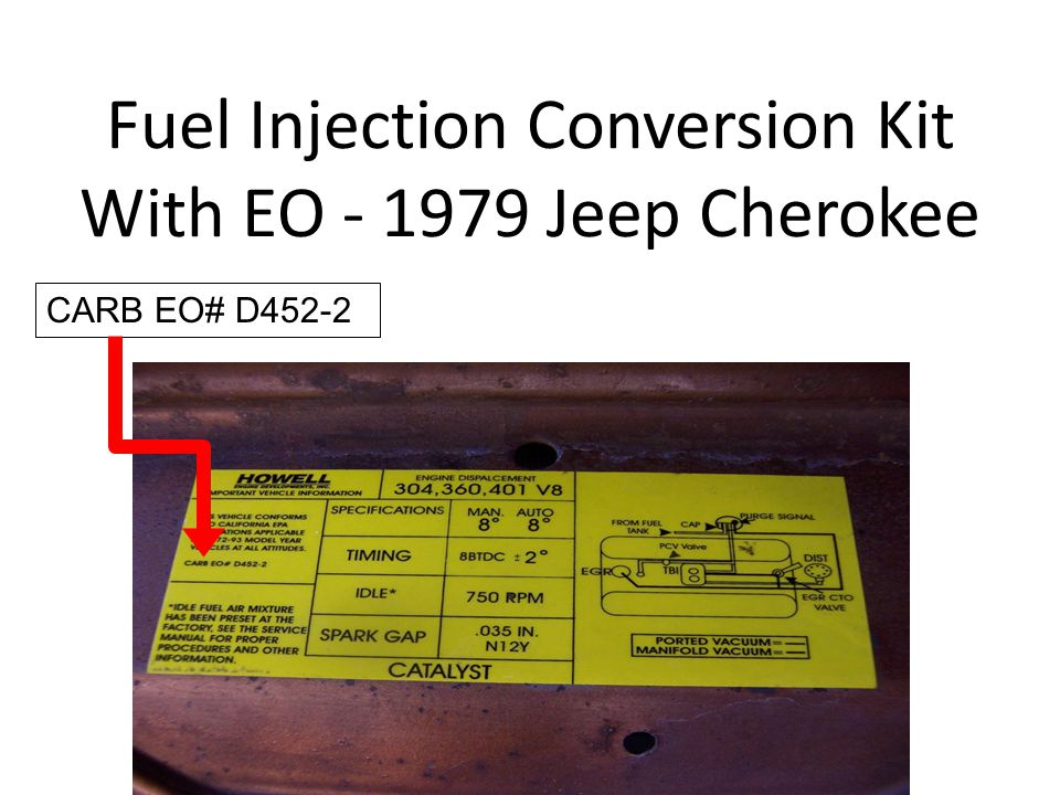 Fuel Injection Conversion Kit With EO - 1979 Jeep Cherokee