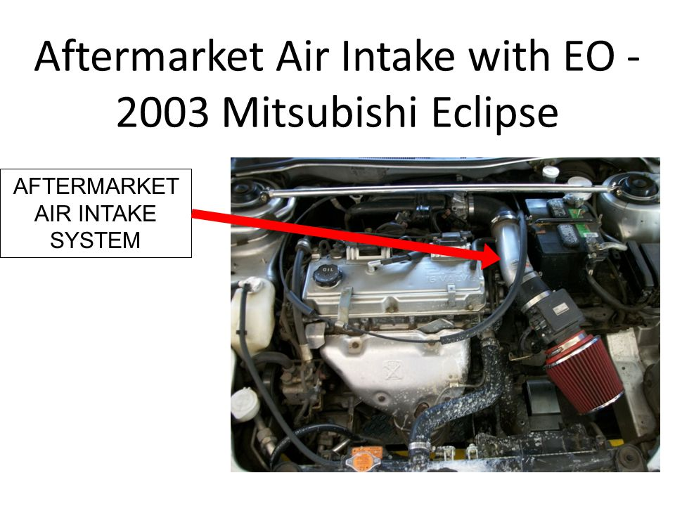 Aftermarket Air Intake with EO - 2003 Mitsubishi Eclipse