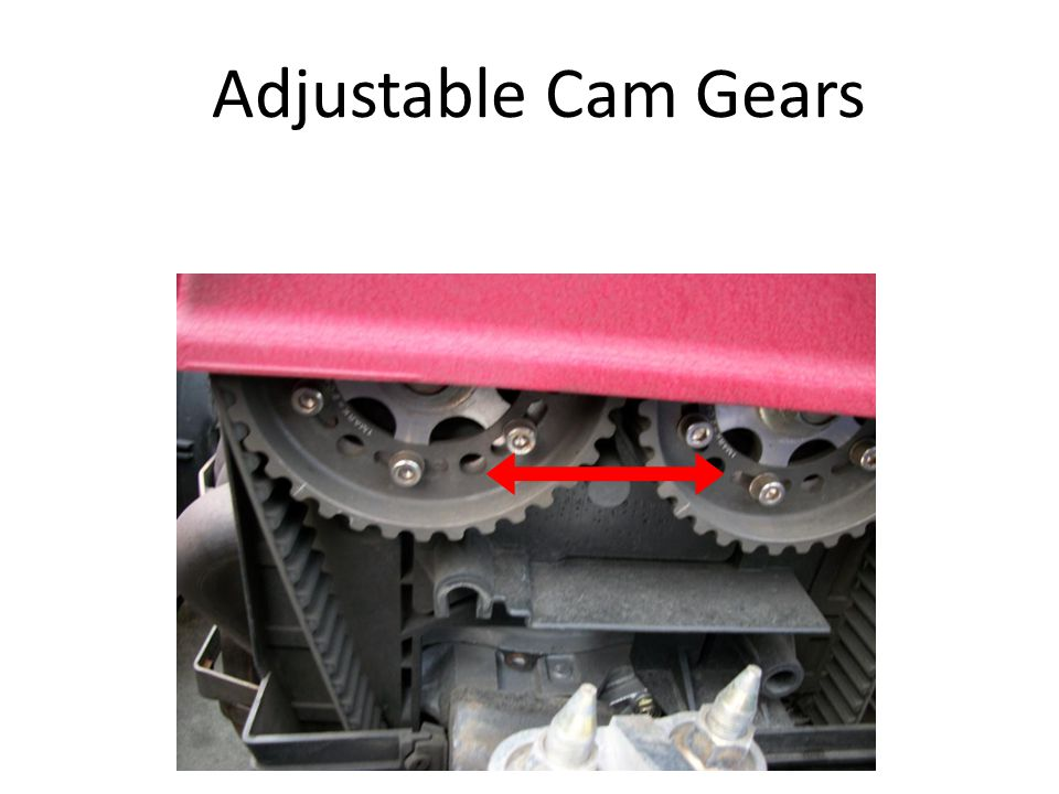 Adjustable Cam Gears Cam gears with complete adjustment possibilities.