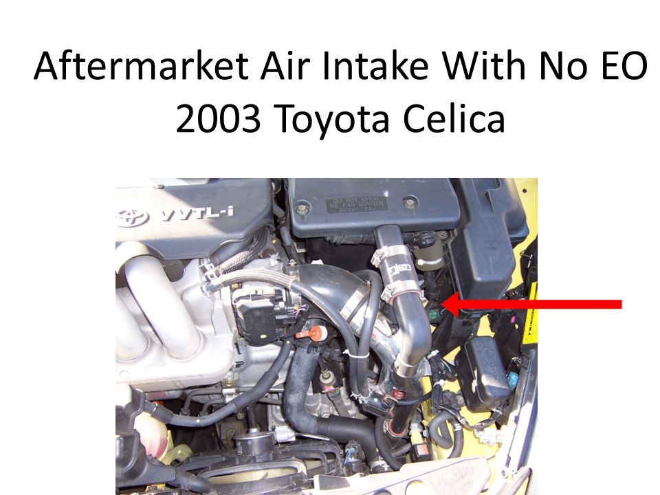 Aftermarket Air Intake With No EO 2003 Toyota Celica