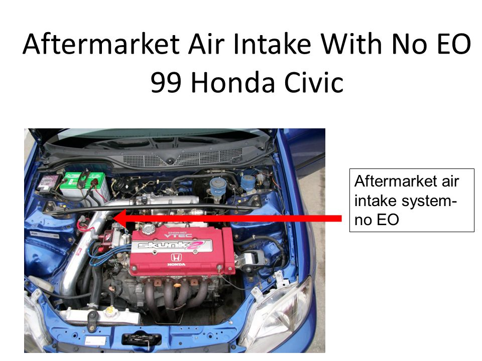Aftermarket Air Intake With No EO 99 Honda Civic