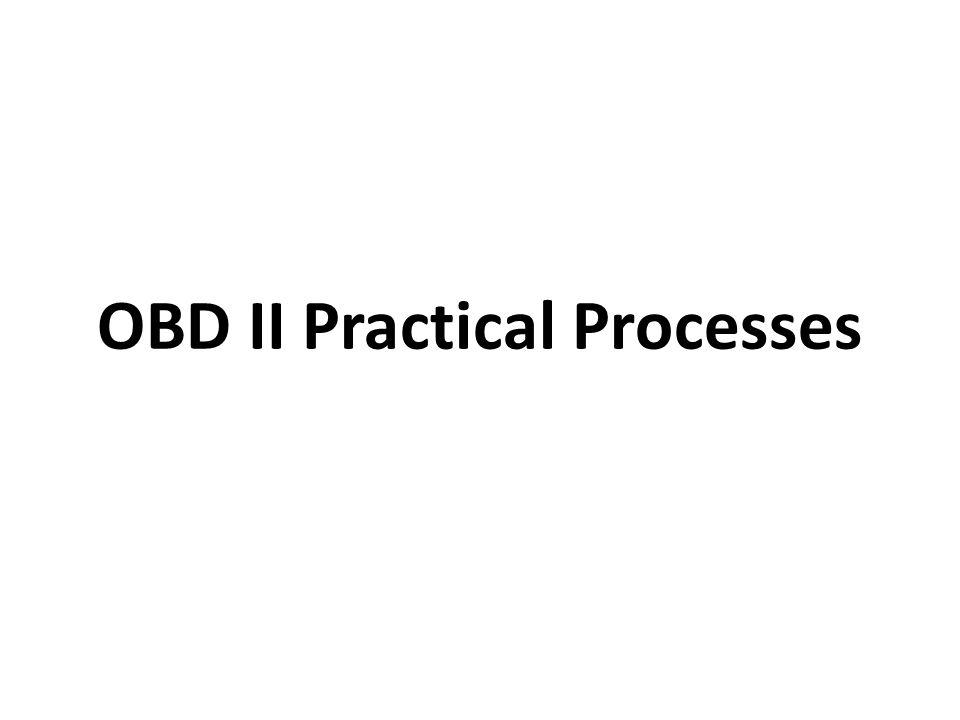 OBD II Practical Processes
