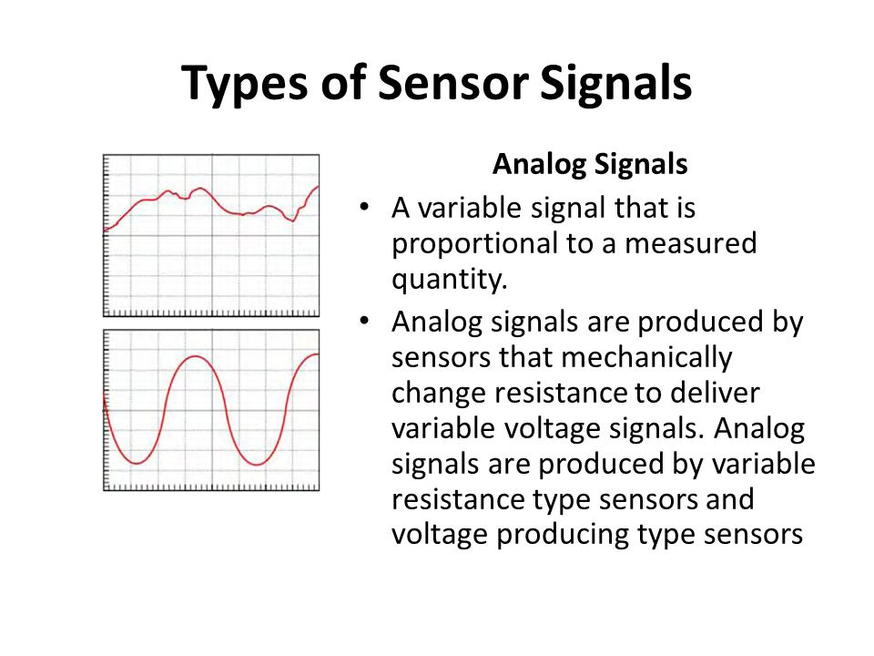 Types of Sensor Signals