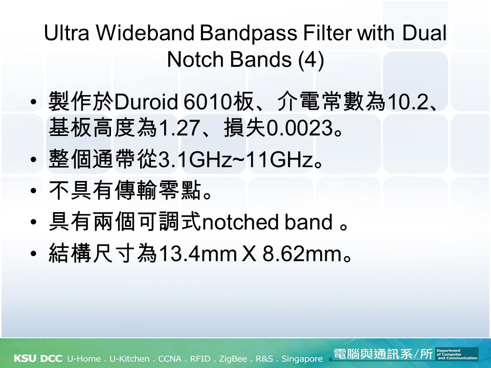 Ultra Wideband Bandpass Filter with Dual Notch Bands (4)