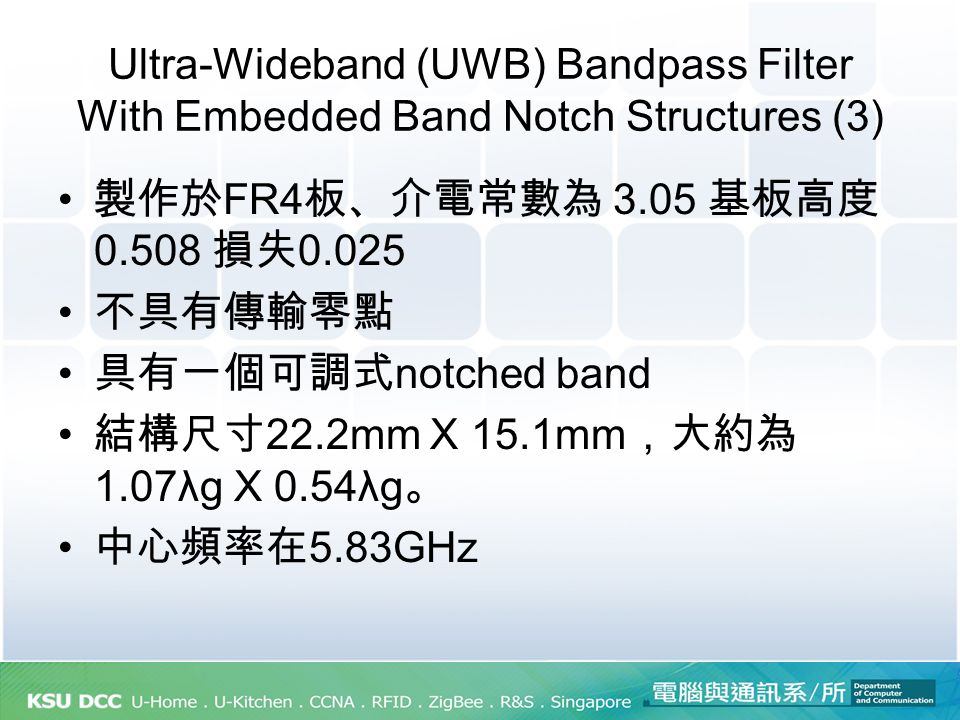 Ultra-Wideband (UWB) Bandpass Filter With Embedded Band Notch Structures (3)
